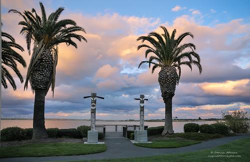 california park sunset marina totem korean browns poles pittsburg seafoodfestival