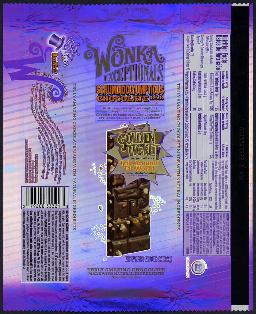 Nestle Wonka Exceptionals Scrumdiddlyumptious Chocolat