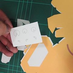 วิธีทำโมเดลกระดาษตุ้กตาสัตว์เลี้ยง หยดทองจากเกมส์ คุกกี้รัน (LINE Cookie Run Gold Drop Papercraft Model - クッキーラン  「黄金ドロップ」 ペーパークラフト) 002