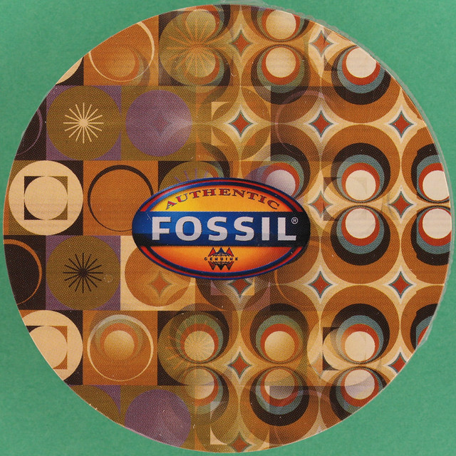 FOSSIL ROUND PLAYING CARD