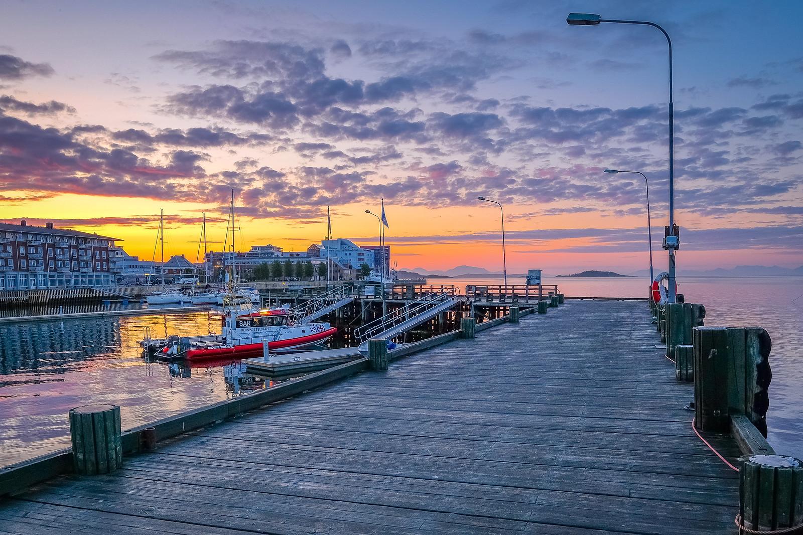 Midnight at Harstad harbour