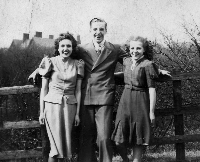 Jean, Eunice and Jack Hinton Jr