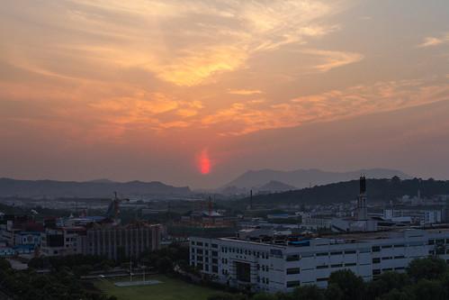 sunset suzhou