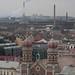 Velká synagoga z věže katedrály sv. Bartoloměje z ochozu ve výšce 62 metrů, foto: Petr Nejedlý