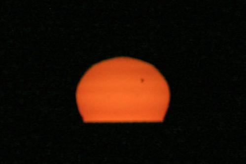 sunset sun venus lakeerie cleveland transit 2012