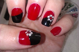 simple diy nail art designs easy red and black nail desig