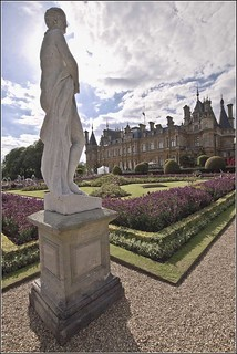 Waddesdon Manor Garden with Statue
