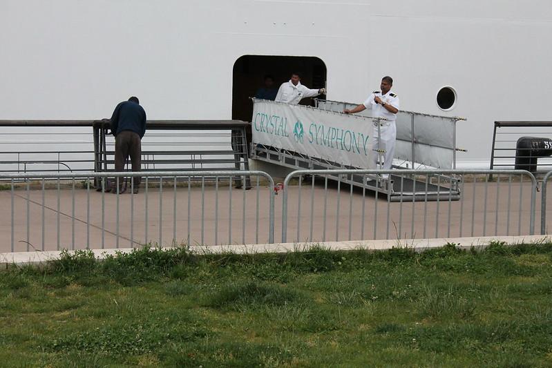 Accostage du paquebot Crystal Symphony - Port de Bordeaux - 18 mai 2012