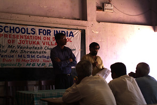 Venkatesh C Founder giving answers to the queries on the project | by Schoolsforindia