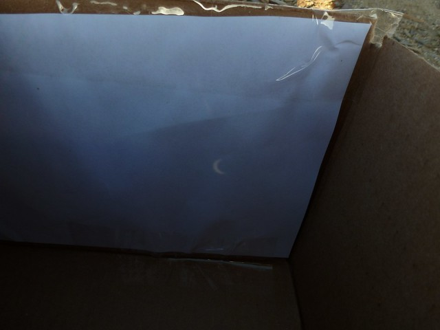 Eclipse Approaching Totality (pinhole view)