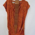 52119()仿双皱丝裙(橙黄.绿)S.M.L   胸104   长81 (1)