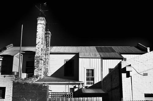 light shadow chimney bw monochrome shop blackwhite nikon shadows australia monotone victoria shade shops vic chimneys gippsland warragul d5100 nikond5100 phunnyfotos