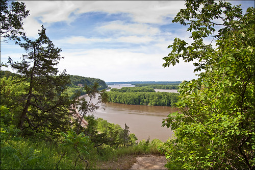 View of the Mississippi River from atop the Palisades | by Tom Gill.