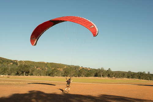 Tyler with Paragliding Wing, Being Towed | by goingslowly