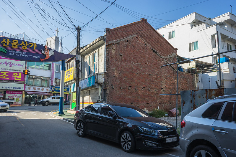 Colonial brick wall, Mokpo, South Korea