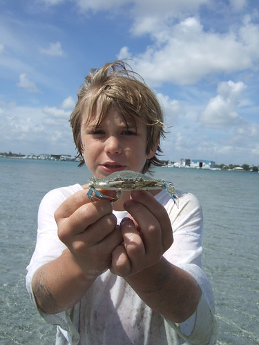 Matthew with a blue crab