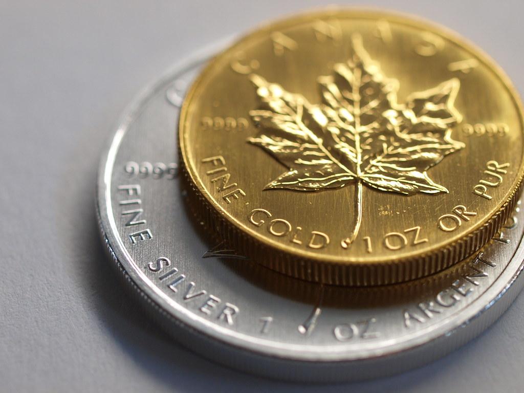 Canada Silver Versus Gold Maple Leaf Bullion Coin Comparis… | Flickr