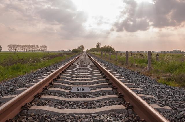 Enkel spoor - Single railway track
