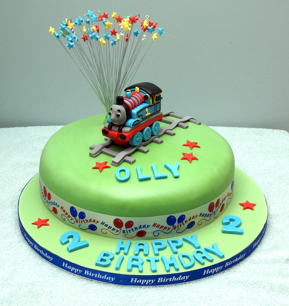 Excellent Thomas The Tank Engine Birthday Cake A Photo On Flickriver Personalised Birthday Cards Sponlily Jamesorg