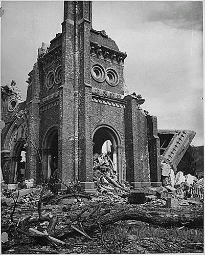 Nagasaki tras la bomba atómica en 1945