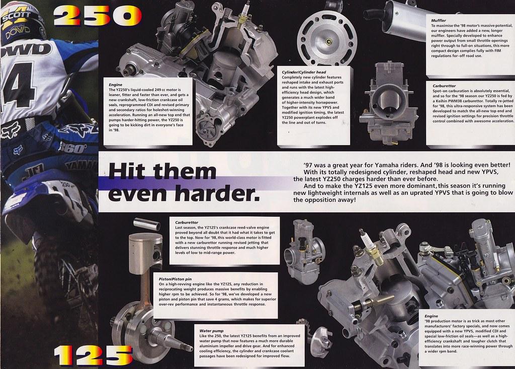 1998 Yamaha YZ125 amd YZ250 Brochure | Tony Blazier | Flickr