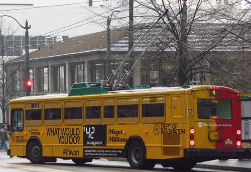 King County Metro 2001 Gillig Phantom Trolley 4188  Washin