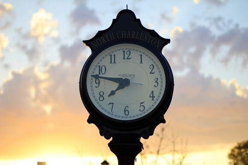 Clock on East Montague | by North Charleston