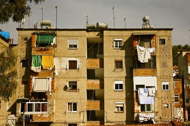 Kombinat by day - Tirana