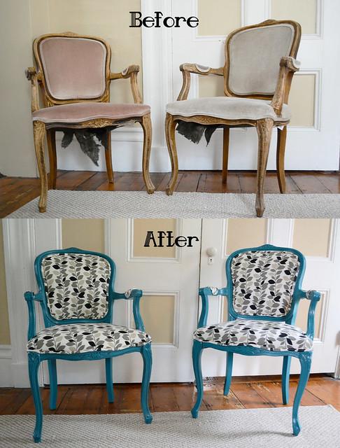 Un fauteuil de style relooké par un tapissier garnisseur / décorateur