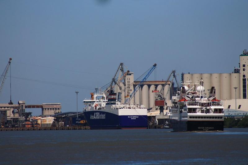 Port de Bassens - Appareillage du Paquebot Silver Explorer de Bordeaux - 13 mai 2012