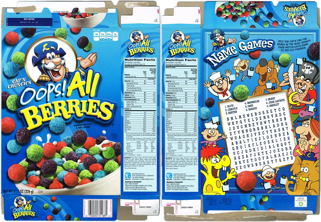 2012 Capn Crunch Oops All Berries A Photo On Flickriver This article takes a look at 27 different types of berries from around the world, their characteristics, nutritional values, what they look like, and how they're used. 2012 capn crunch oops all berries a