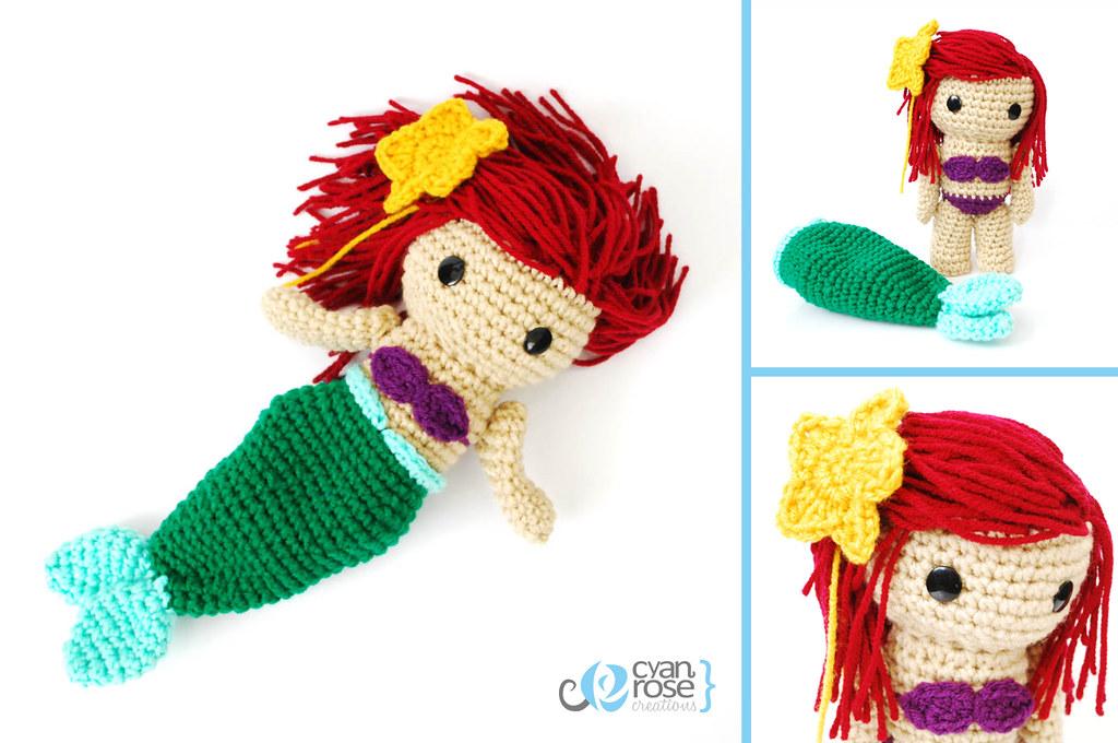 Little Mermaid (Ariel) Amigurumi Crochet Doll by janageek on ... | 680x1024