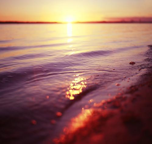sunset sea film mediumformat fuji east qld velvia100 bribieisland sth hasselblad500cm punicestonepassage