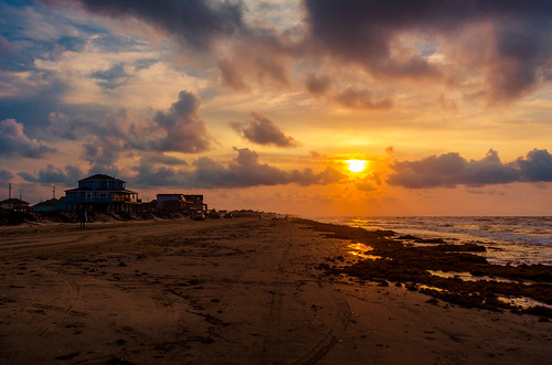 galveston beach sunrise landscape texas unitedstates crystalbeach