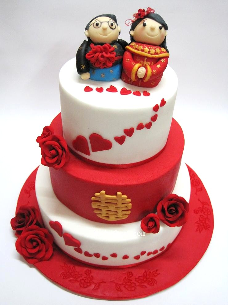 3 Tiered Red White Chinese Wedding Cake 6 8 And 10 R Flickr