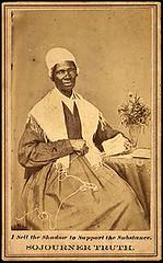 <p>Visitekaartje van Sojourner Truth (1797-1883), voorvechtster van afschaffng slavernij en gelijkberechtiging van vrouwen in de Verenigde Staten.</p>