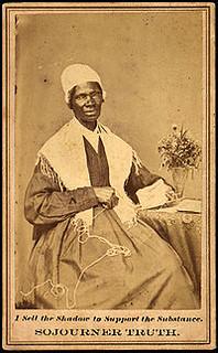 Visitekaartje van Sojourner Truth (1797-1883), voorvechtster van afschaffng slavernij en gelijkberechtiging van vrouwen in de Verenigde Staten.