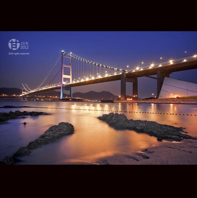 HONG KONG : Tsing Ma Bridge 青馬大橋