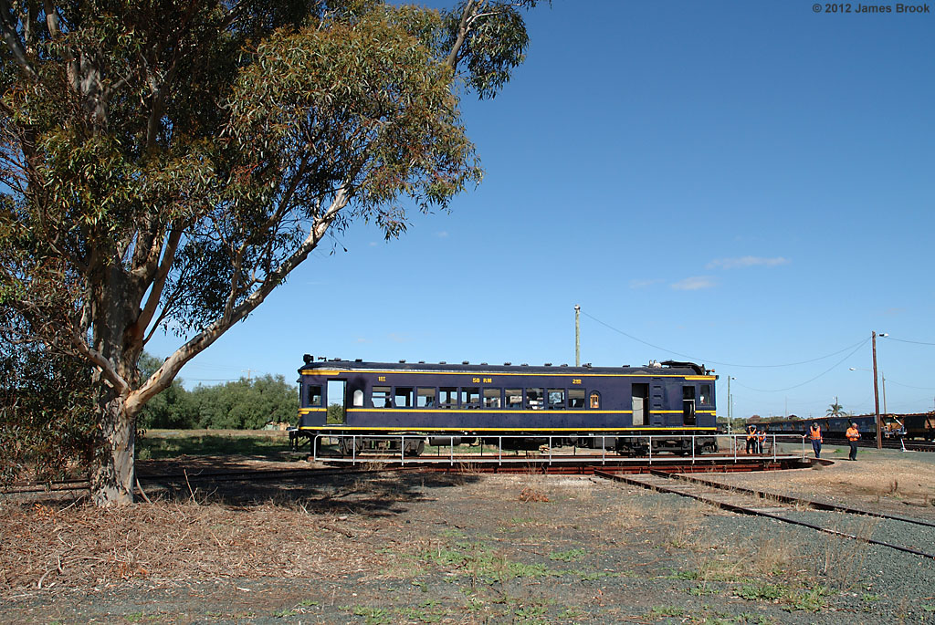 58RM on the turntable at Echuca by James Brook