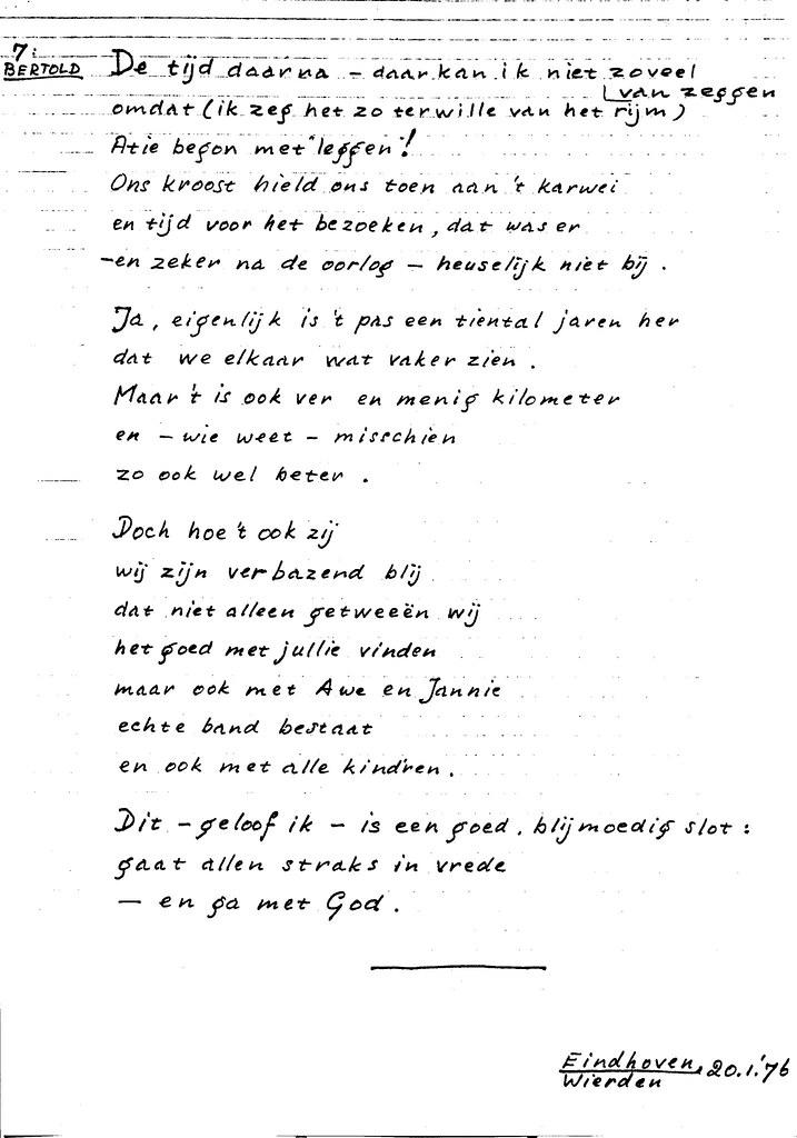19760120 A8060 087 Gedicht Tgv Gouden Bruiloft Opa Wim