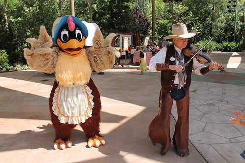 Clara Cluck and Farley the Fiddler do the Chicken Dance   by Castles, Capes & Clones