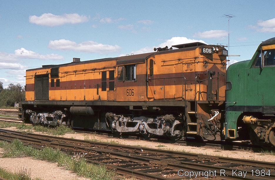 Australian National Railways Goodwin-Alco 606 at Peterborough Loco Depot by Robert Kay