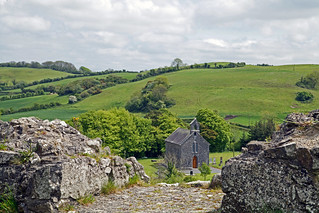 Church with a Red door near Rock of Dunamase | by Graham Higgs