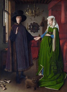 [ E ] Jan van Eyck - Portrait of Giovanni Arnolfini and his wife (1434) | by Cea.