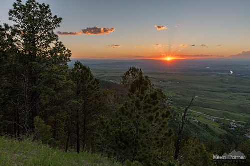 caspermountain wyoming june summer sunset evening dusk color colorful sky orange clouds scenic view vista sun hdr tamron2470mmf28 nikond750