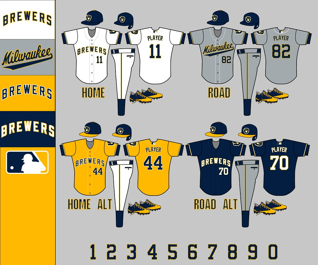 new style 86d1e 4a3cc Milwaukee Brewers: Uniforms 2.0 | PMell2293 | Flickr