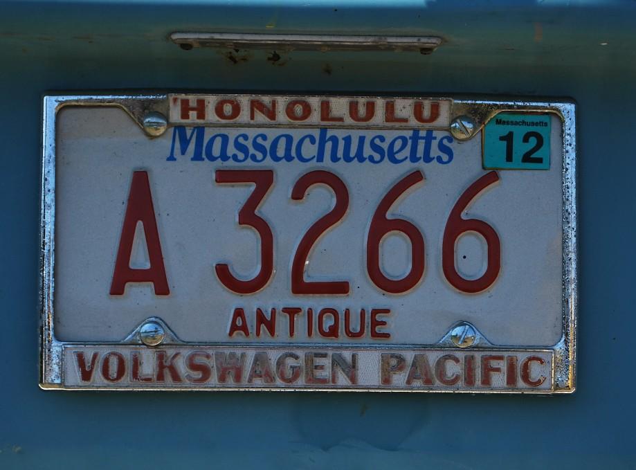 Volkswagen Pacific dealer license plate frame   It's a long