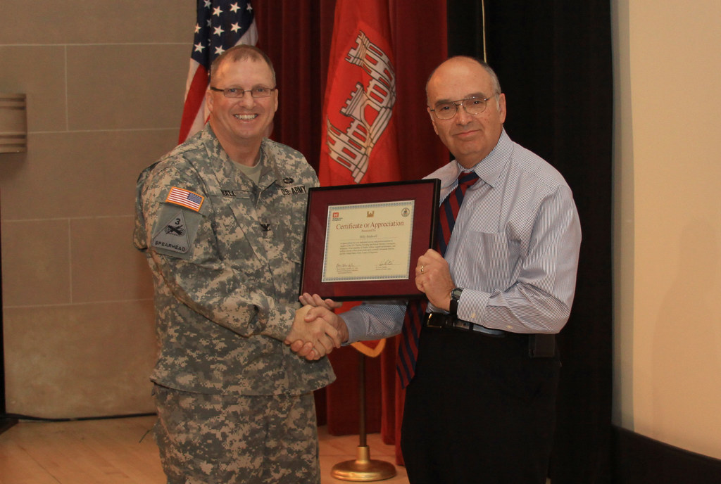 Billy Birdwell received a Certificate of Appreciation