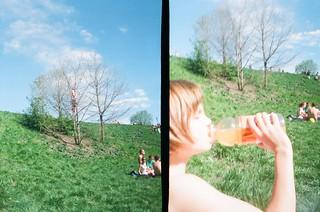 tree climbin, juice drinkin