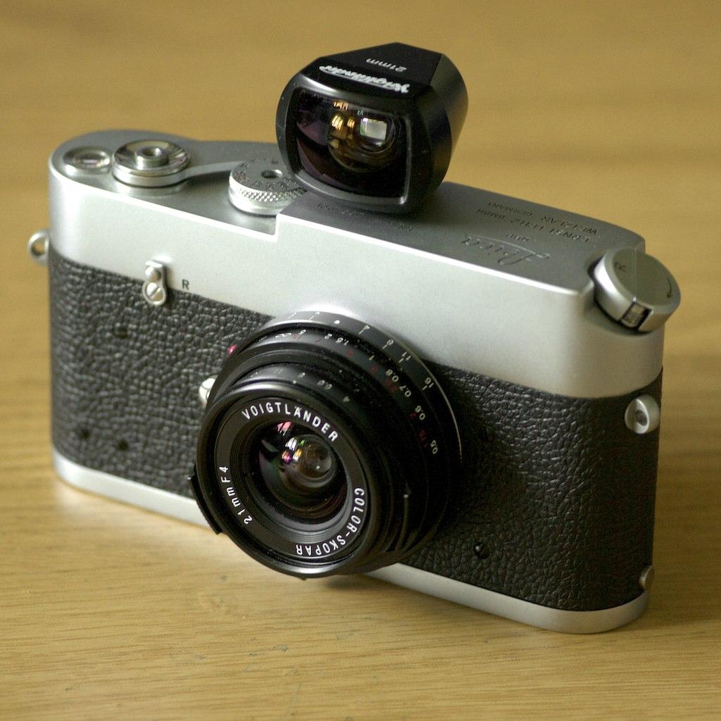 1970 Leica MDa + CV 21mm f4 Color Skopar + 21mm Finder (Fo